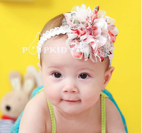 Factory directly wholesale new infant baby headbands vintage shabby chiffon flower