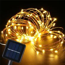Factory Price Copper Wires Solar Power Christmas LED String Light Outdoor Fairy Lights