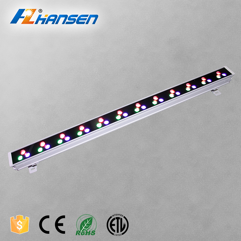 ETL listed out door lighting 36W RGB DMX led wall washer light