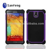 Colorful Soft Silicone Multi Tone Hybrid PC Mobile Phone Case Cover For Samsung Galaxy Note 3 N9000