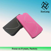 Newest wallet heat pressing leather case for samsung galaxy s4 with card slot for samsung i9500