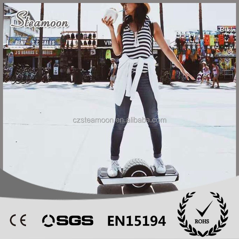 Super cool one wheel skateboard colorful electric scooter for outside sport