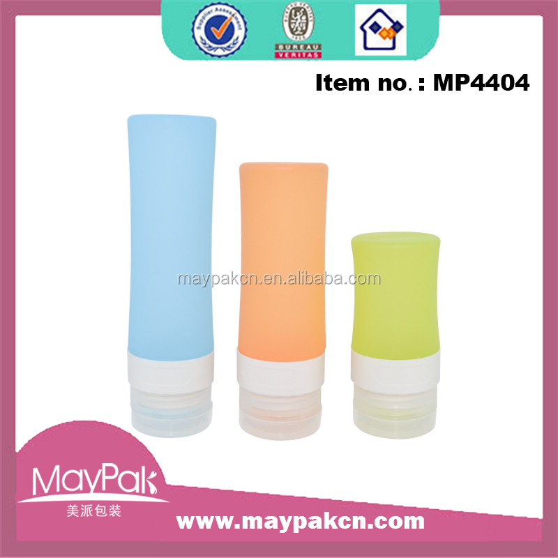 Travel cosmetic mini bottles silicone for shampoo