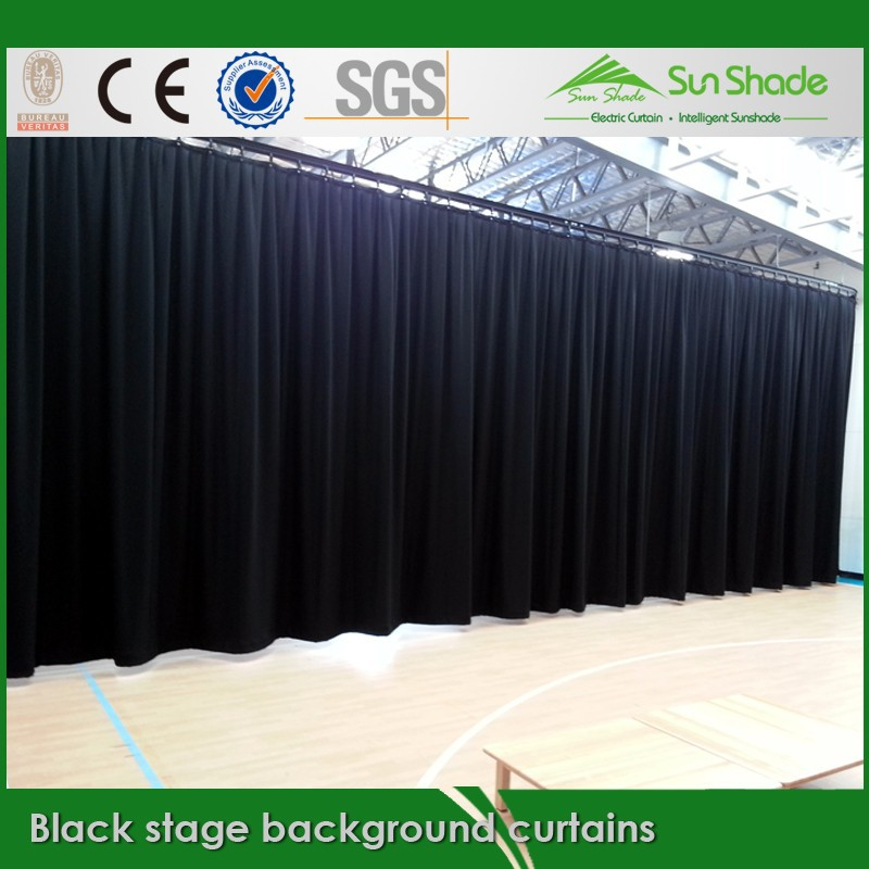 Black stage background curtains for sales