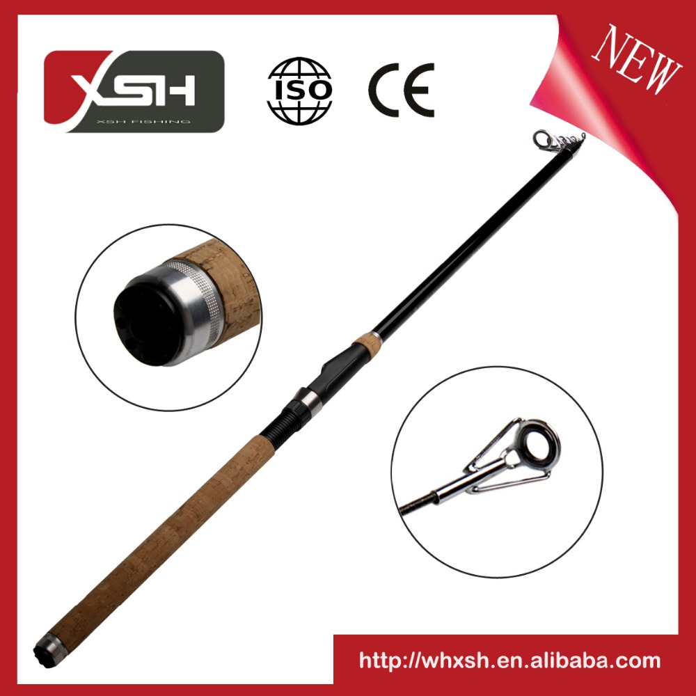 XSH 3.3M OEM / ODM carbon fabric telescopic fishing rods for tele sea fishing japan