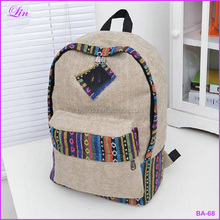 FREE shipping by DHL/FEDEX /SF New female women ethnic brief canvas backpack preppy style <strong>school</strong>
