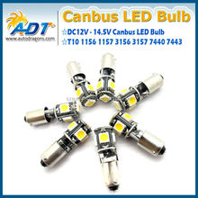 BA9S-5SMD-5050 chip Canbus led bulb high quality car led bulb indoor light