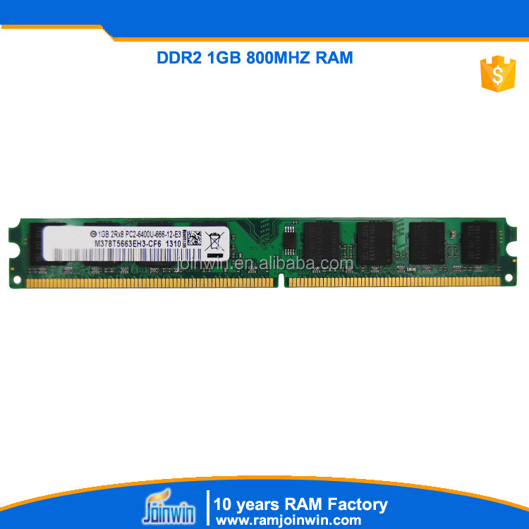 China oem manufacturer offer ddr2 1gb pc800 ram memory