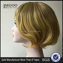 New Fashion Blonde Synthetic Hair Wig For Christmas Party Or Halloween Short Bob Wig For Woman
