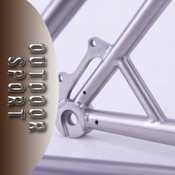 [ZLT]FACTORY TRANSPARENCY Top sale cyclocross titanium bike frame with special top tube design