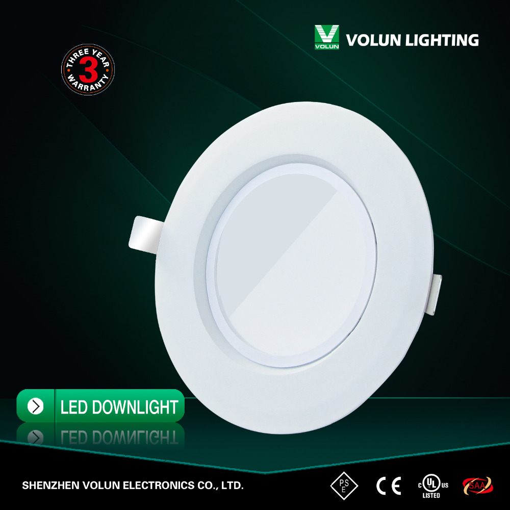 2016 High Quality GU24 90 degree 15w 1300lm LED Downlight made in China with 3 years warranty