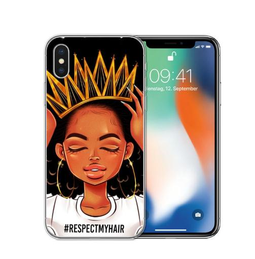 2 bunz Melanine Poppin Aba Zachte Siliconen Telefoon Case voor iPhone X 6 7 8 plus 5 5 s se 6 s Fashion Black Girl Cover Voor iPhone xs - ANKUX Tech Co., Ltd