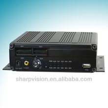 H.264 compression high video quality 4ch bus mobile dvr