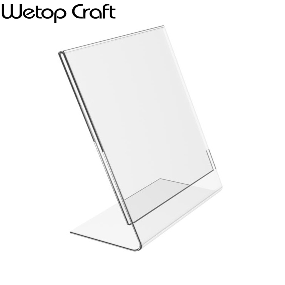 Clear Acrylic Sign Holder 5x7 Ad Frames Slant Back