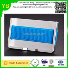 Custom cheap aluminium red/black/blue money clip credit card wallet holder in Guangdong ISO9001/TS16949