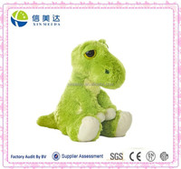 New Arrival Plush Cute Nerd Big Eyes Green Dinosaur Toy