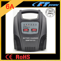 6A vehicle battery auto electric scooter rechargeable 12v agm battery for fengtai switch lead acid battery charger