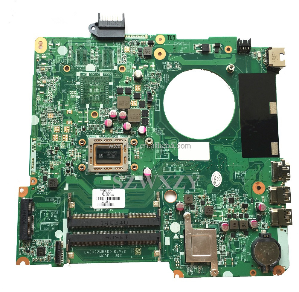 For HP 15-<strong>N</strong> 737140-501 Laptop Motherboard Mainboard DA2U92MB6D0 A10-4655M CPU <strong>100</strong>% Tested