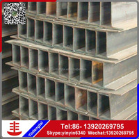 Structural steel beam dimensions SS400 h iron beam h steel h channel