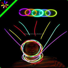 Promotional glow sticks light glow necklace flashing christmas necklace