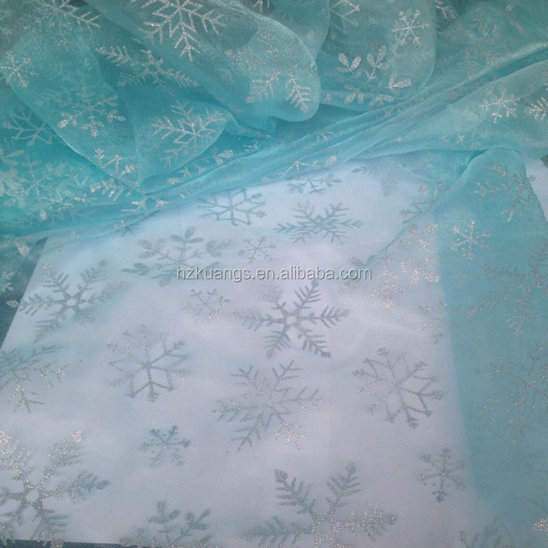 snowflake pattern fabric for frozen elsa costume
