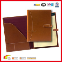 Promotional Customized Design Leather Jotter Case for iPad, Zipper Leather Case Cover for iPad Mini