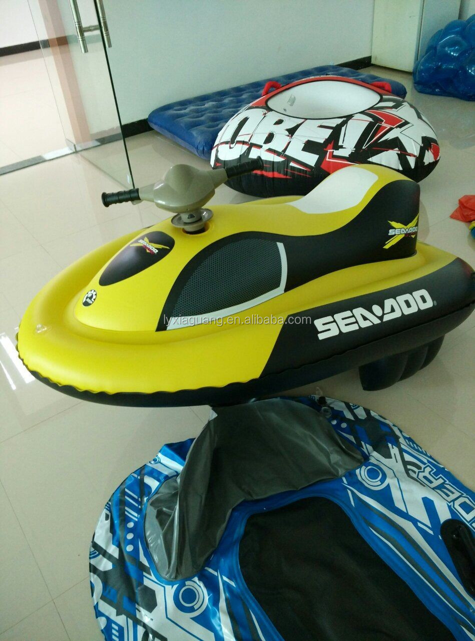 Various pattern inflatable motor boat inflatable water scooter with motor electric jet ski for kids