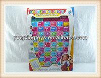 Kids English and Arabic wall chart for baby learning with writing board