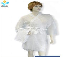 Unisex non woven disposable sauna suit kimono robes for spa salon
