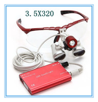 Optical 2.5X 3.5X Dentist Surgical Binocular Dental Loupe and LED Headlight magnifying glass