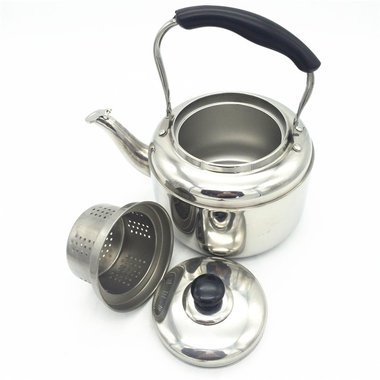 Traditional Tea Kettle Stovetop Teapot Stainless Steel Hot Water Kettle Whistling