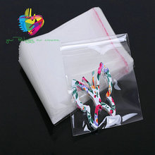clear customer sizes and printing plastic opp self adhesive bag