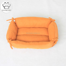 yellow soft fleece dog bed