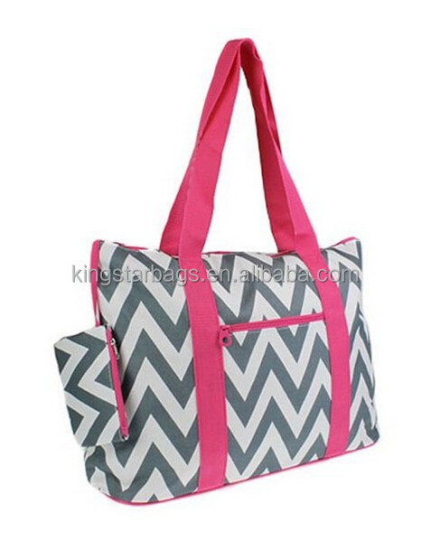 Chevron Prints Large Roomy Tote Beach Bag