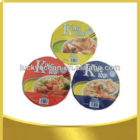 Wheat flour noodles packing in cup noodles
