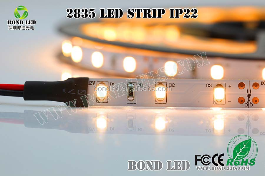 2014 new products 2835 led strip shenzhen manufacturer CE ROHS design solutions international light