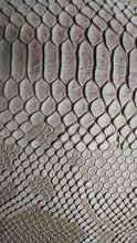 China manufacturer pvc/pu synthetic leather snake skin PU leather for Shoes bags