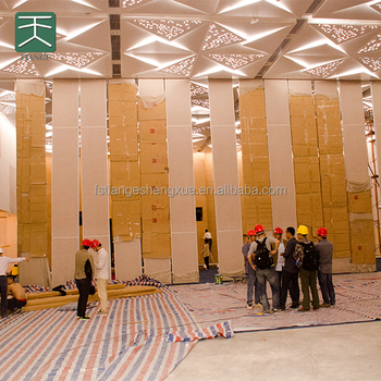 Wood movable sound proof partition walls