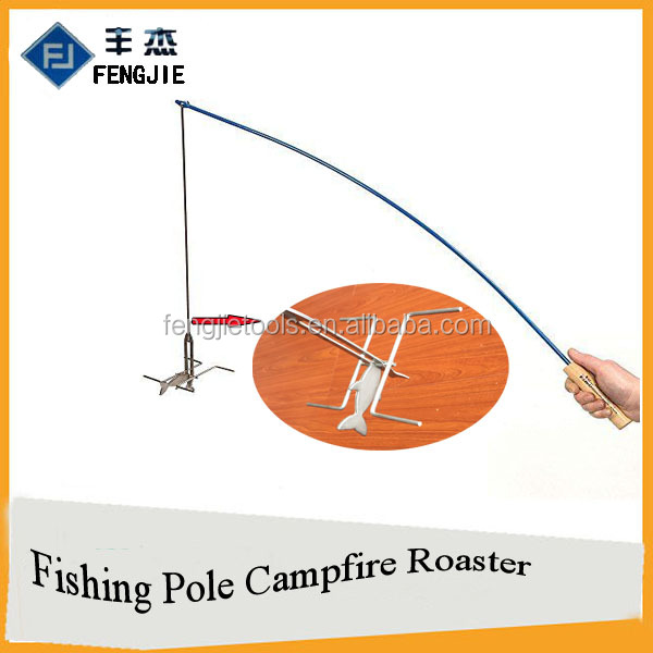 Hot Dog and Marshmallow Roasting Compfire Fishing Pole