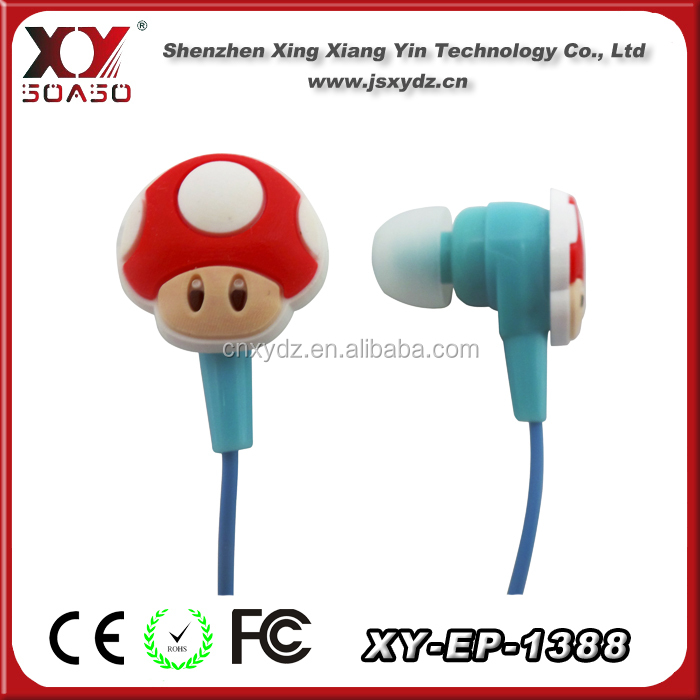 mp3 /mp4 stereo colorful in-ear silicon ear factory earphones