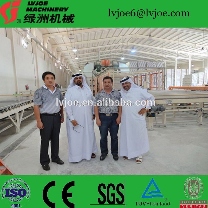 Water proof gypsum board/plaster pannel production line