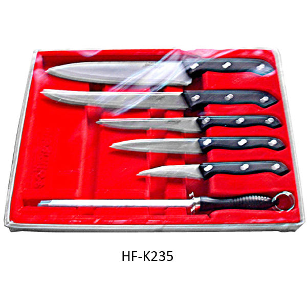 Solingen series sharp blade 6pcs kitchen knife set in PVC box