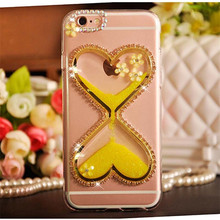 Coque Bling Quicksand Dynamic Diamond Hourglass Liquid Glitter Case For Sony Xperia L1/C5/M2 For iPhone 6/7/7 Plus