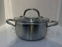 Hot sell stainless steel cookware 16x9.5cm casserole/cookware/kitchenware with induction base