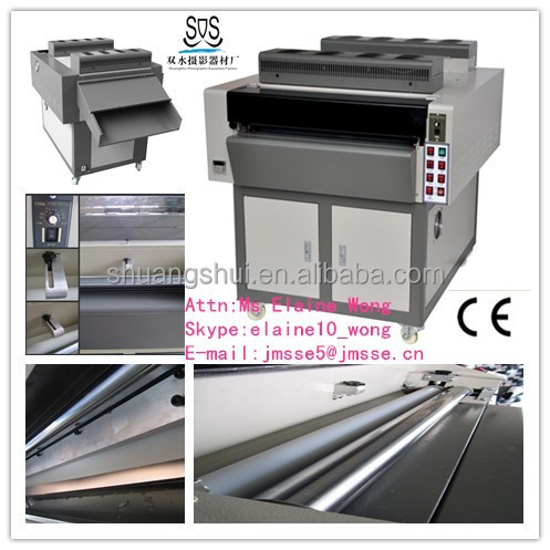 "CE latest 24"" IR glossy uv varnish machine"