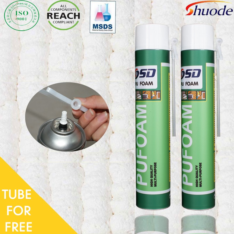 Best Selling window door construction 500ml 750ml polyurethan spray expanding gun pu foam sealant