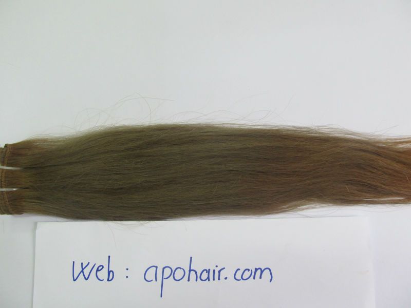 10''-32'' smoother grey color werfted hair for wig