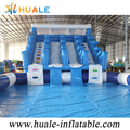 2018 Giant Inflatable Double Slide with Pool Inflatable Climbing Inflatable Combo