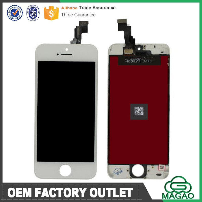 original complete lcd for iphone 5c, factory price digitizer for iphone 5c lcd,for iphone 5c white lcd touch screen digitizer