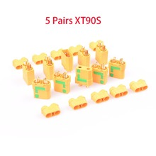 5 Pairs Amass XT90S Male Female Bullet Connector anti spark Plug For RC DIY FPV Quadcopter brushless motor Dron